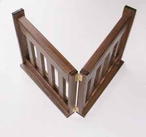 Folding Free-standing Style Pet Gate - Easy to step over. Fold up to put away.