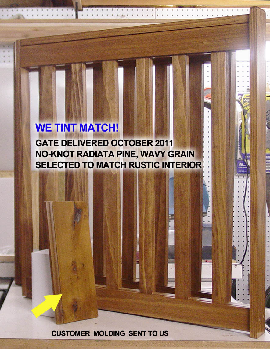 Tint Matching Colors for your Custom Pet and Baby Gate